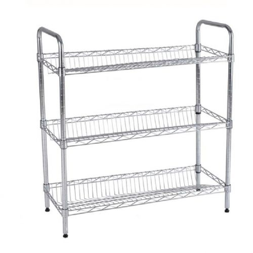 3 TIERS METAL WIRE SHOE RACK