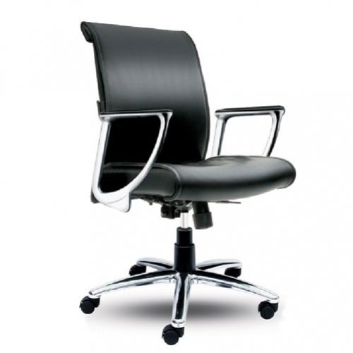SWIVEL CHAIR MEDIUM BACK – LEATHER REF STANLEY 2-1